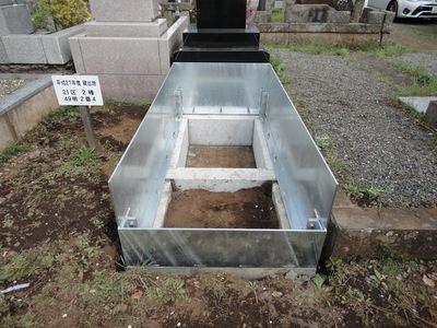 お墓プロジェクト6  スチールフェンス取り付け_a0122098_2143290.jpg