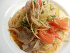 4/14本日パスタ:豚肉とフレッシュトマトのスパゲティ_a0116684_11563400.jpg