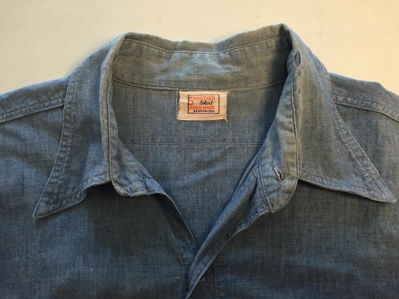 シャツ襟リペア 古着 ヴィンテージ 擦り切れダメージ_b0178425_1739916.jpg