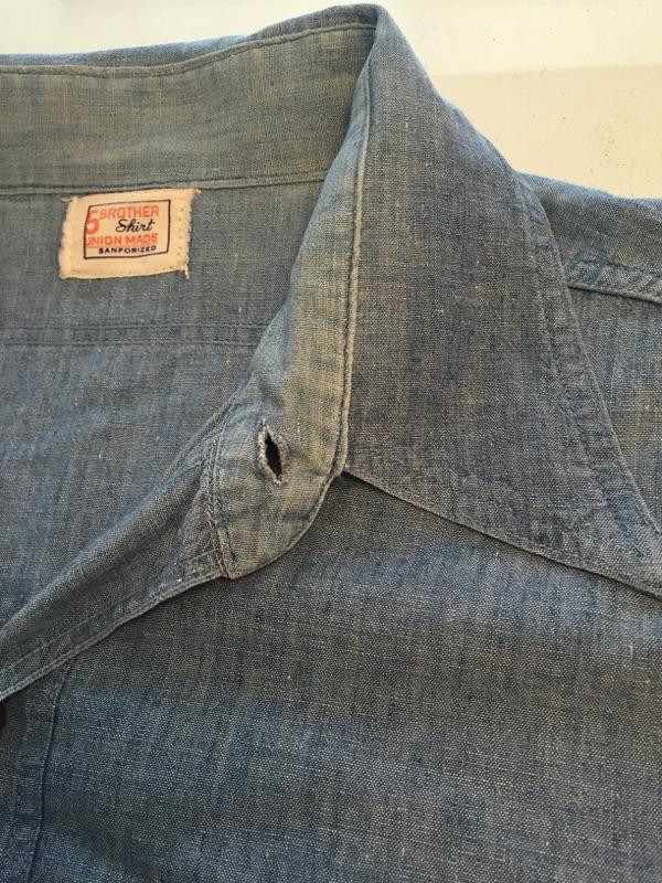 シャツ襟リペア 古着 ヴィンテージ 擦り切れダメージ_b0178425_17422715.jpg