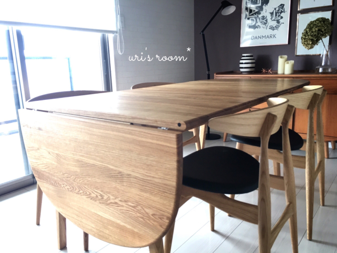 憧れのダイニングテーブルのある風景。_a0341288_21053272.jpg