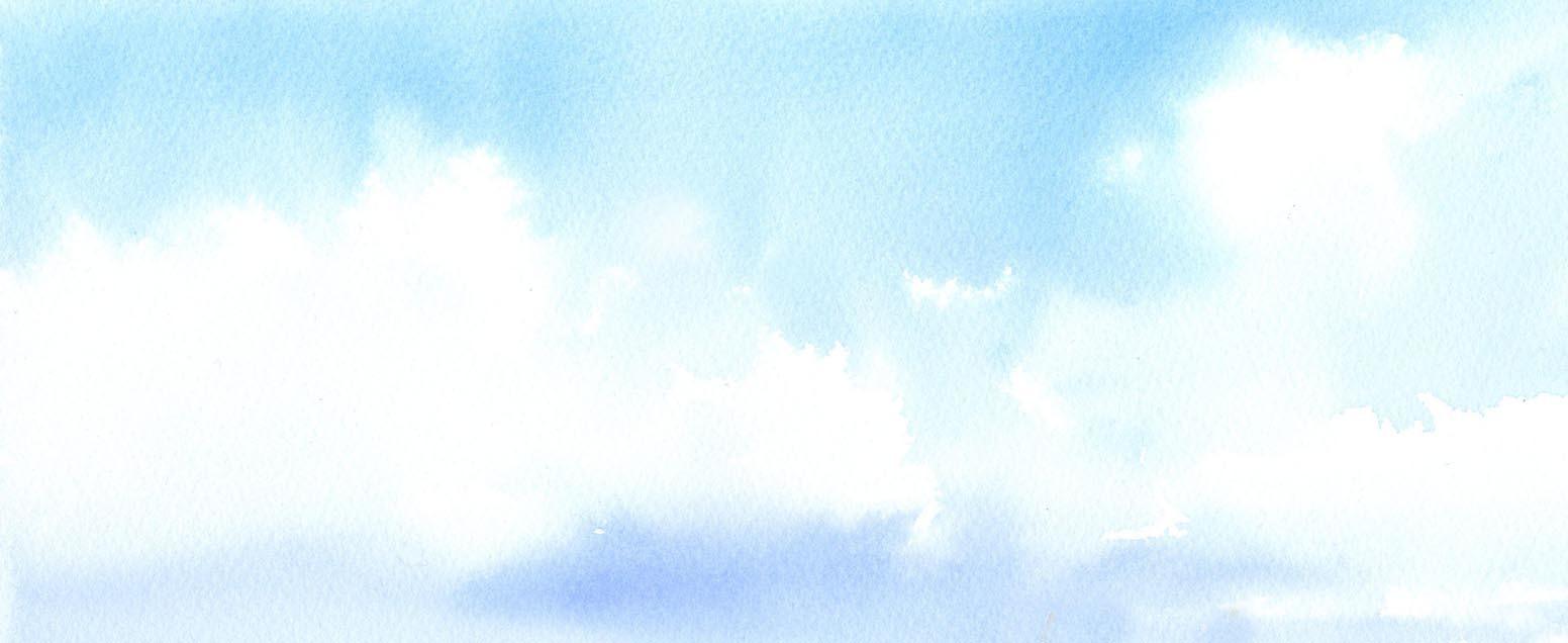 空 水彩画_f0176370_16320636.jpg