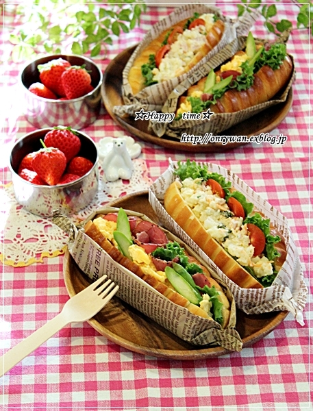 パン・ヴイエノワでサンド弁当と苺酵母元種♪_f0348032_17293774.jpg