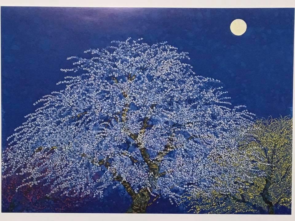 素敵!「フランスでみる夜桜」平松礼二_b0042538_14014204.jpg