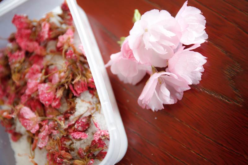 バタースコッチのはっぴーけーき  桜の塩漬け _d0034447_14150253.jpg