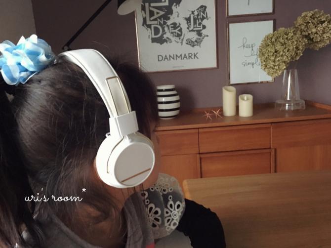 北欧デザインのヘッドホンで大好きな音楽を!それから…ギャルに憧れる小1女子。_a0341288_19483618.jpg