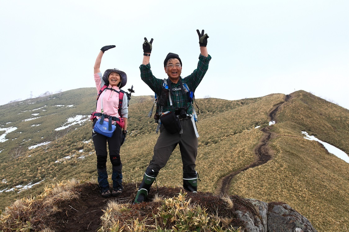 伊達紋別岳、2017.4.16-同行者からの写真-_f0138096_19505479.jpg