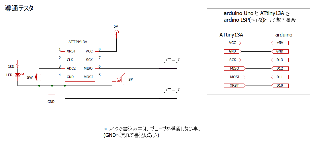 Japanino ArduinoISPで ATtiny13 で 導通テスタ (4/20)_a0034780_22521456.png