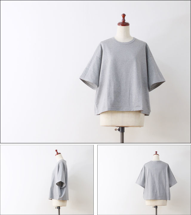 MidiUmi [ミディウミ] crew neck side line T [1-712265] LADY\'S_f0051306_21192106.jpg