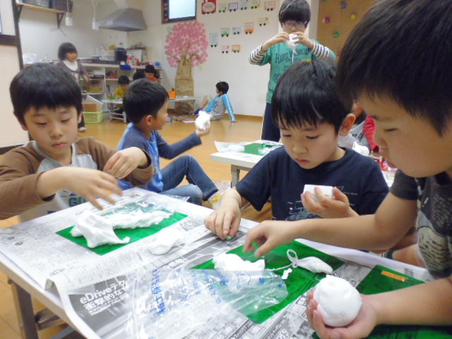 【工作教室】低学年『マグネット紙粘土』 中高学年『ジオラマ』制作_f0225094_23530680.jpg