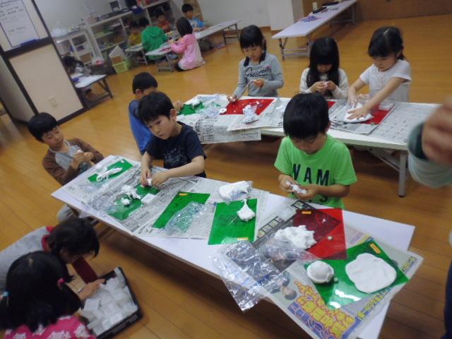 【工作教室】低学年『マグネット紙粘土』 中高学年『ジオラマ』制作_f0225094_23533145.jpg