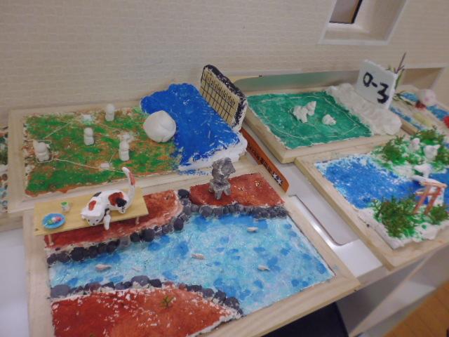 【工作教室】低学年『マグネット紙粘土』 中高学年『ジオラマ』制作_f0225094_23562944.jpg
