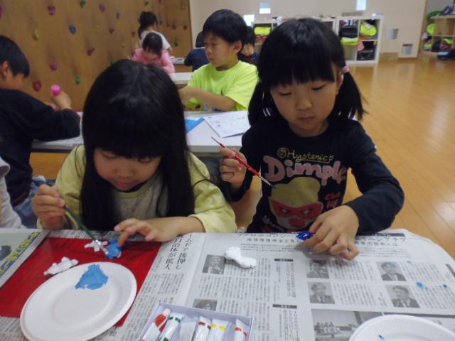 【工作教室】低学年『マグネット紙粘土』 中高学年『ジオラマ』制作_f0225094_00052117.jpg