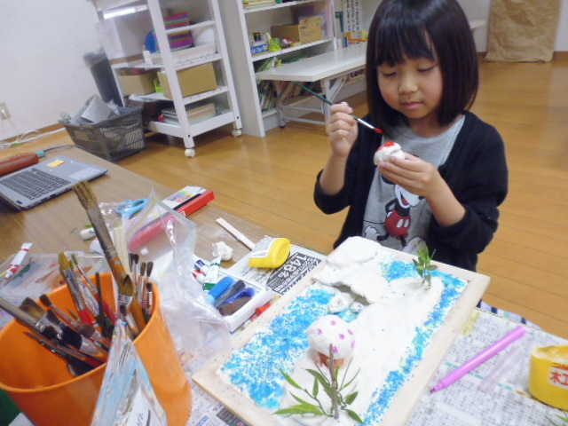 【工作教室】低学年『マグネット紙粘土』 中高学年『ジオラマ』制作_f0225094_00055449.jpg