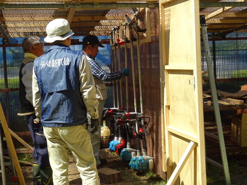 作業小屋内装開始・・・うみべの森_c0108460_21123961.jpg