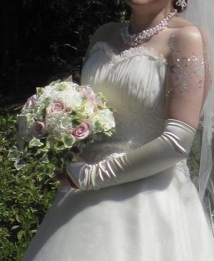 白ドレス&ライトブルードレスのブーケ♪_f0054809_10383580.jpg