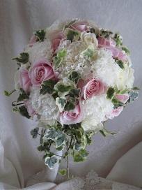 白ドレス&ライトブルードレスのブーケ♪_f0054809_10401851.jpg