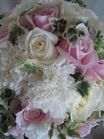 白ドレス&ライトブルードレスのブーケ♪_f0054809_10403393.jpg