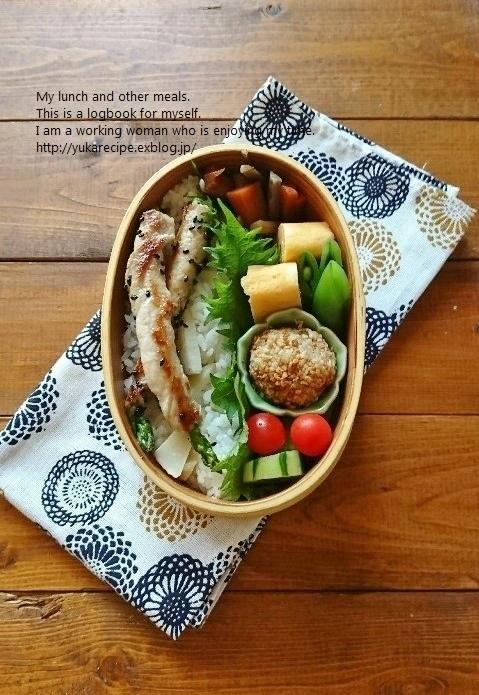 4.25 肉巻きアスパラ筍ごはん弁当&基本の「き」_e0274872_07504186.jpg