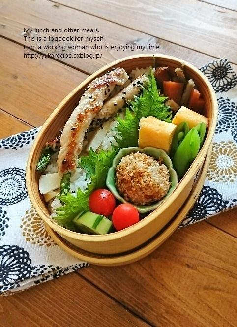 4.25 肉巻きアスパラ筍ごはん弁当&基本の「き」_e0274872_07504967.jpg