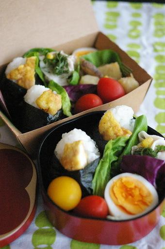 今日の鶏天むすび弁当とお弁当作りのコツ_d0327373_07114593.jpg