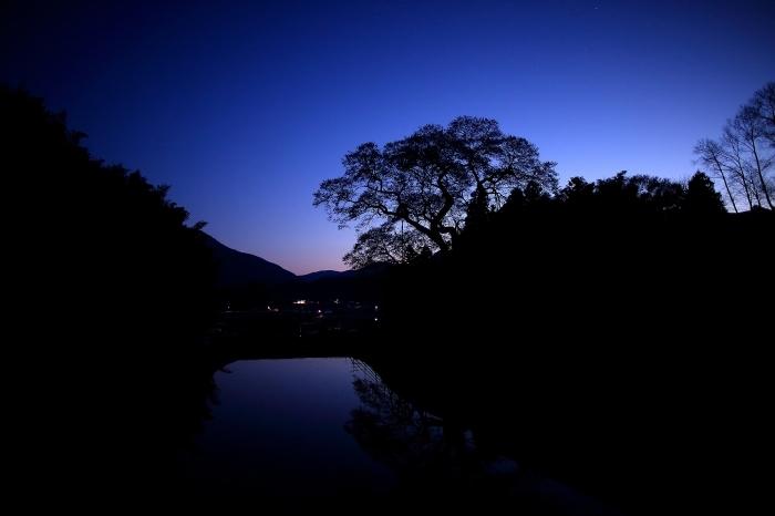 """済んだ日の早朝 """"水鏡に映る要害櫻"""" そのⅠ_a0140608_07325713.jpg"""