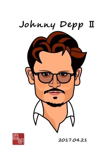 ジョニー・デップを描きました。#2(A023)_f0337513_11024607.jpg