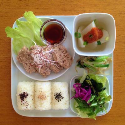 ひき肉と豆腐のふんわり蒸し_b0102217_17262473.jpg