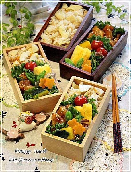 旬の筍で、たけのこご飯弁当と今夜は♪_f0348032_17545181.jpg