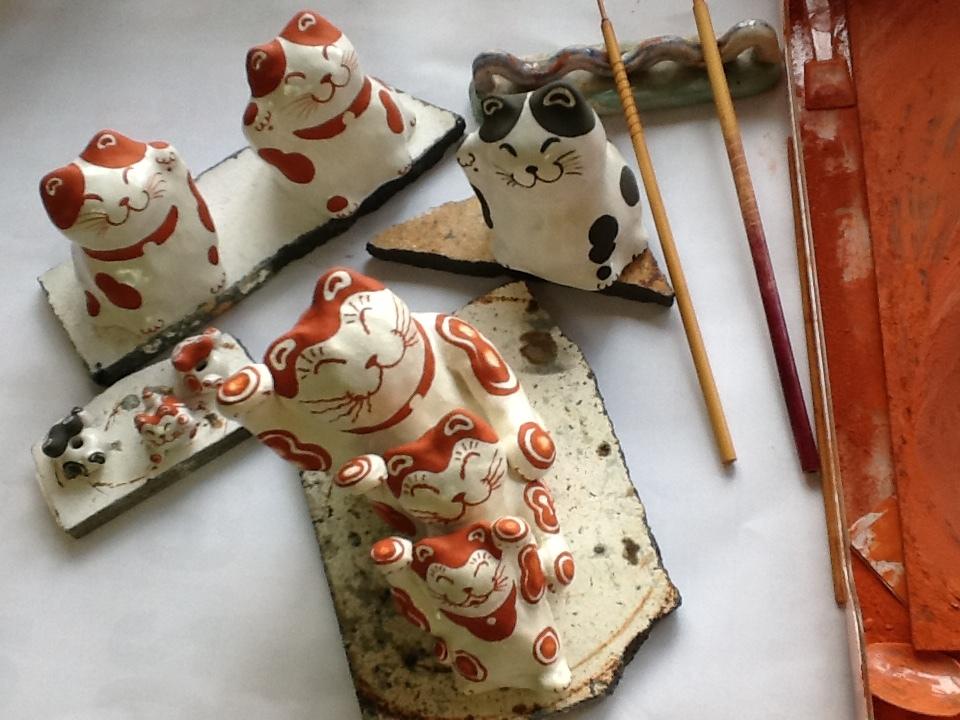 猫展の作品、制作中_f0151419_22062397.jpeg