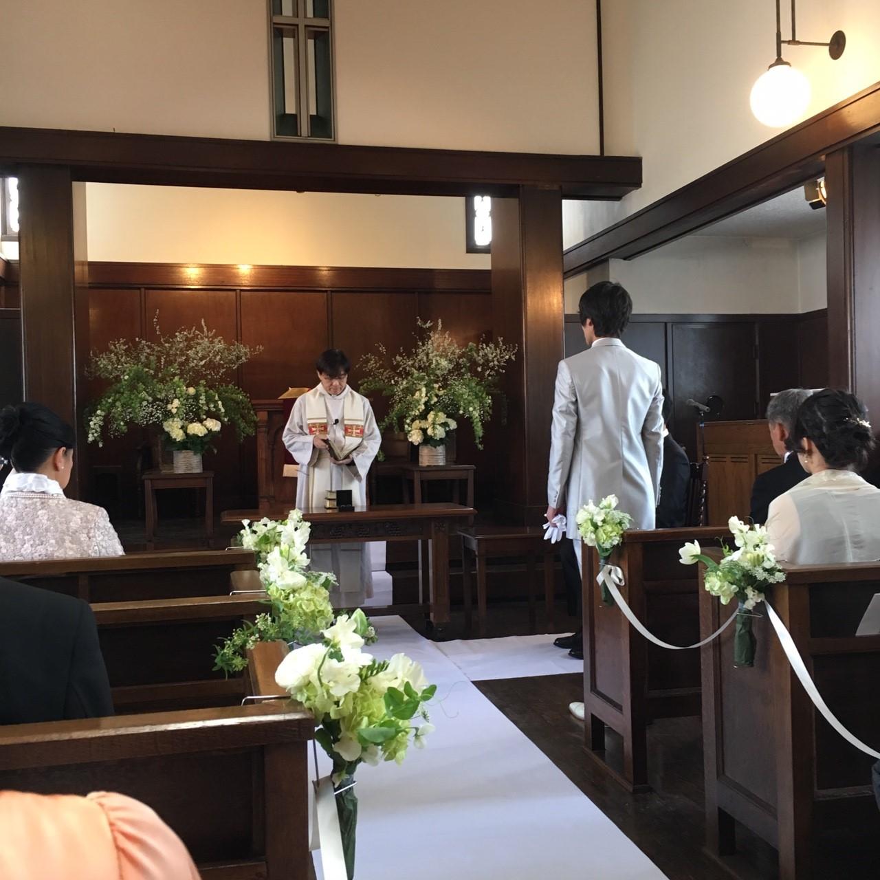 新郎新婦様からのメール 高輪教会様への装花 目には見えないもの_a0042928_22353739.jpg