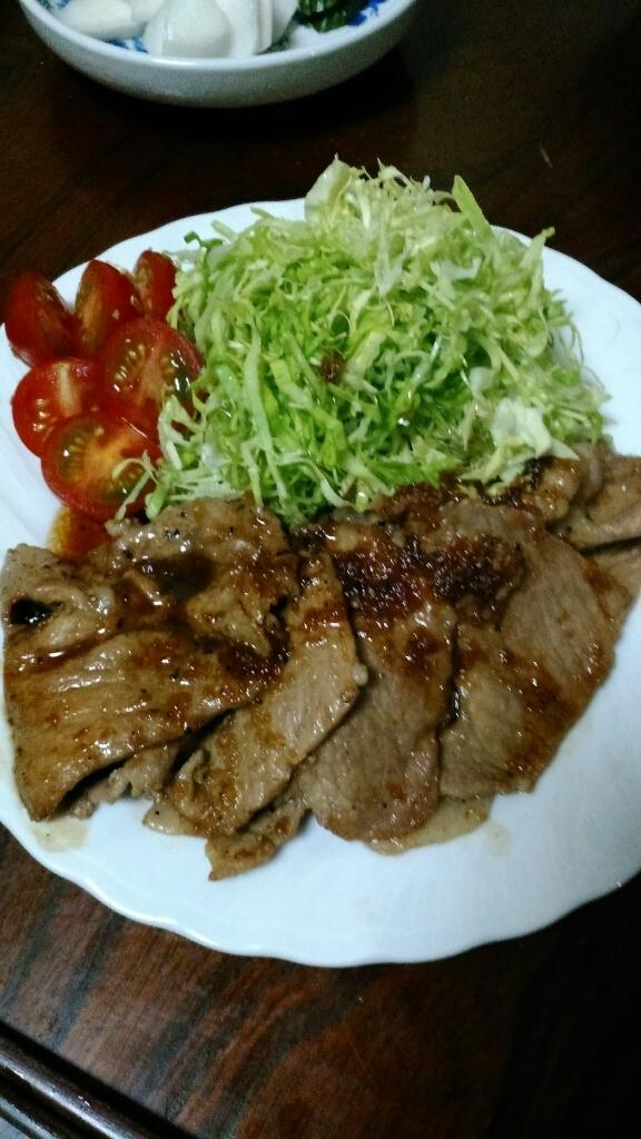 生姜焼き定食_c0162773_00422331.jpg
