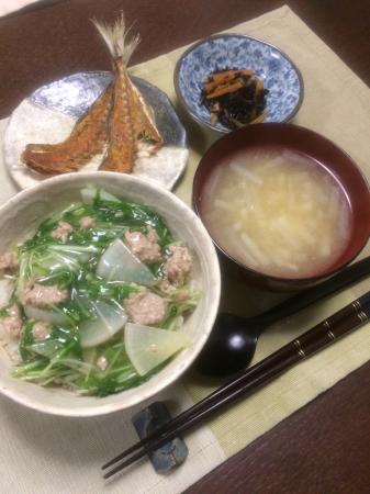 水菜と豚肉のまかない丼_d0235108_21271517.jpg