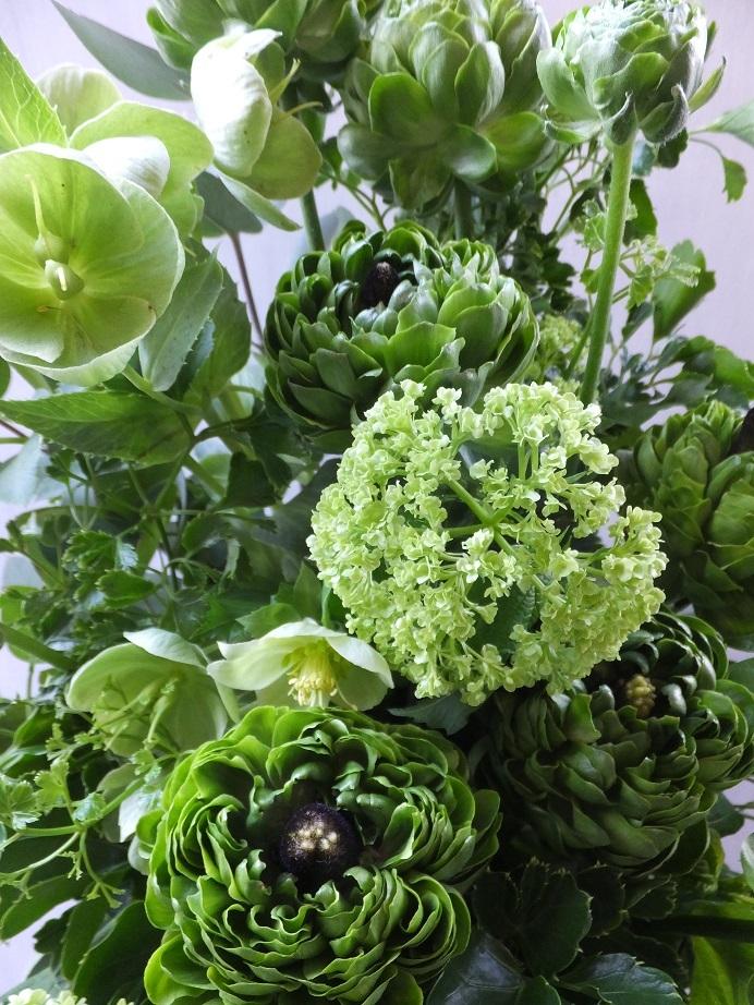オークリーフ(緑色の花のアレンジメント)_f0049672_18023048.jpg