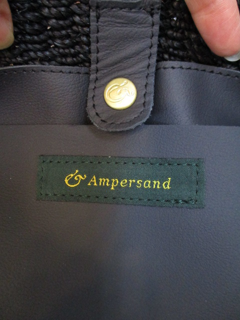 ★アンパサンド Ampersand Pocket basket bag NO:0817-202_e0076692_18354593.jpg