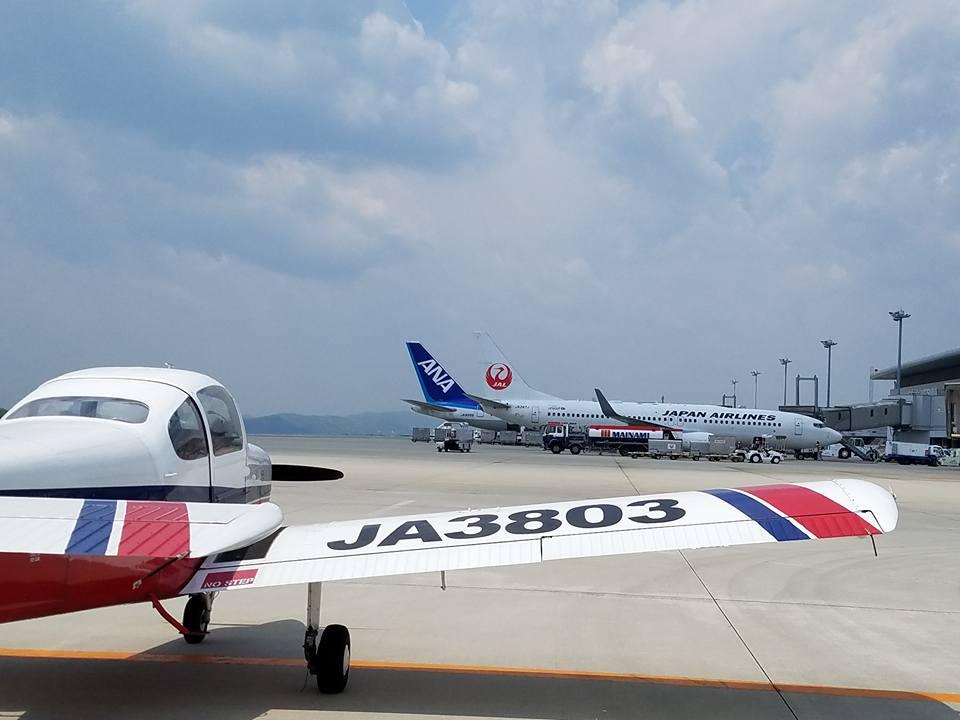 松山空港から約30分、瀬戸内の島々を見ながらのフライトは最高でした。_c0186691_1184559.jpg