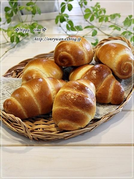 焼き立てバターロールで朝ごパンとモッコウバラ♪_f0348032_17472406.jpg