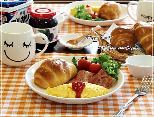 焼き立てバターロールで朝ごパンとモッコウバラ♪_f0348032_17473520.jpg