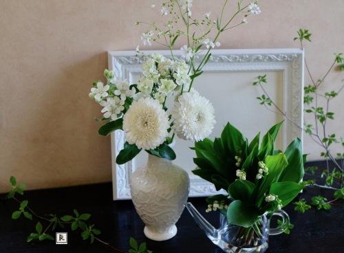 「5本の花ということ」では「いろいろな白」_c0128489_22474340.jpg