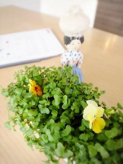 我が家の韓国料理教室 今回のテーブル装花は野菜!_b0060363_10551315.jpg