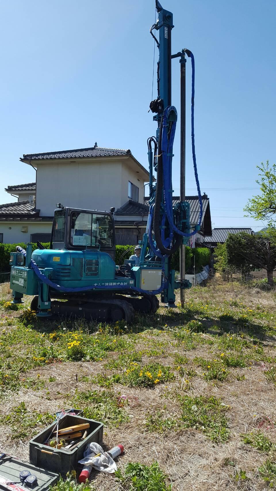 松本市波田 U様邸 地盤改良工事_e0347716_16362554.jpg