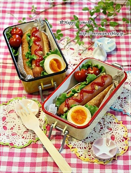 ドッグパンでホットドッグ弁当と♪_f0348032_18142478.jpg