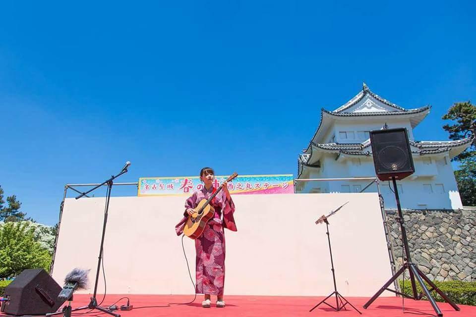 名古屋城 春の陣2017 せきともこギターコンサート_f0373339_15305327.jpg
