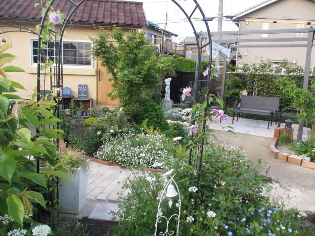ガーデンリビングから見える初夏の庭_a0243064_19312759.jpg