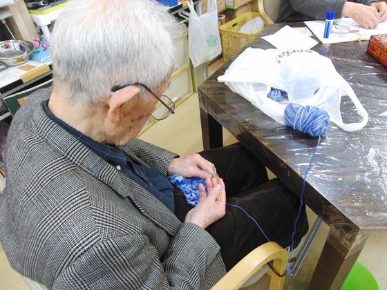 編みもの & 裁縫 ~ 模様編みの手提げバック ~_e0222340_1640251.jpg