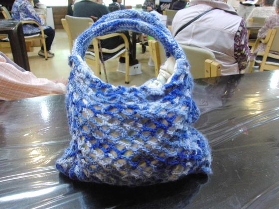 編みもの & 裁縫 ~ 模様編みの手提げバック ~_e0222340_16422469.jpg