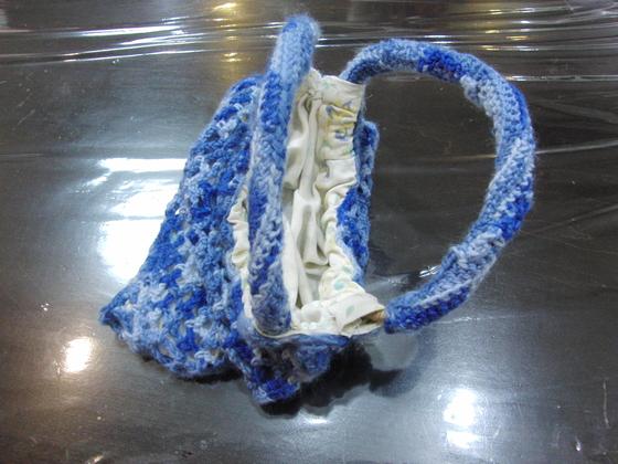 編みもの & 裁縫 ~ 模様編みの手提げバック ~_e0222340_16423768.jpg