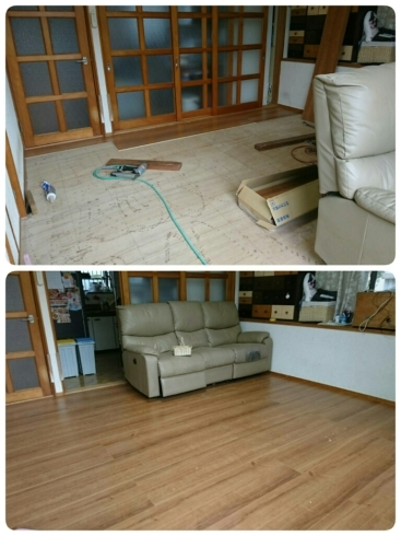 床貼り替えリフォーム ~Y様邸_d0172085_22300683.jpg
