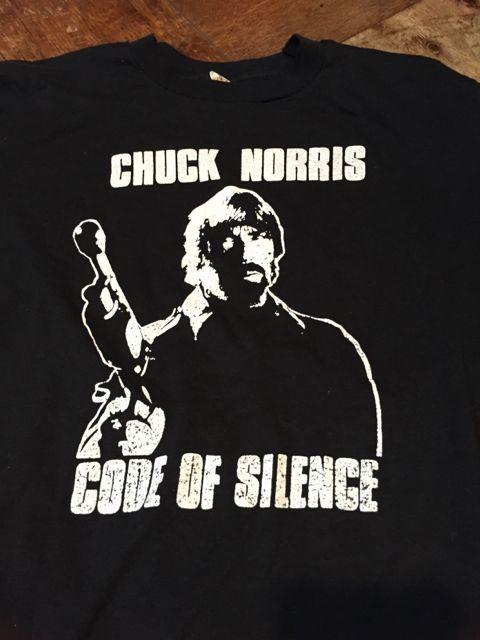 5月13日(土)入荷!1985年 MOVIE   CODE OF  SILENCE(野獣捜査線) CHUCK NORRIS Tシャツ!_c0144020_16315043.jpg