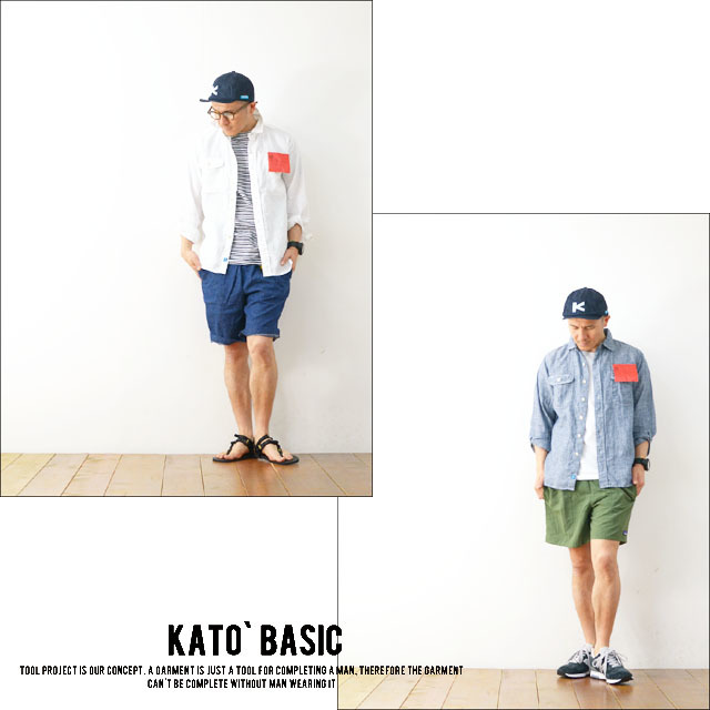 KATO\' BASIC[カトー ベーシック] LINEN WORK SHIRTS [BS410077] MEN\'S _f0051306_20314658.jpg